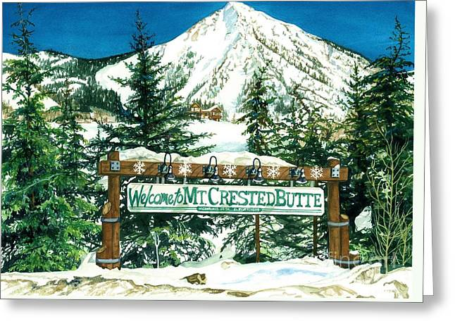Welcome To The Mountain Greeting Card by Barbara Jewell