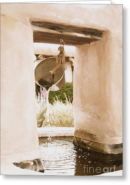Adobe Wells Greeting Cards - Well  Greeting Card by Nancy Patterson