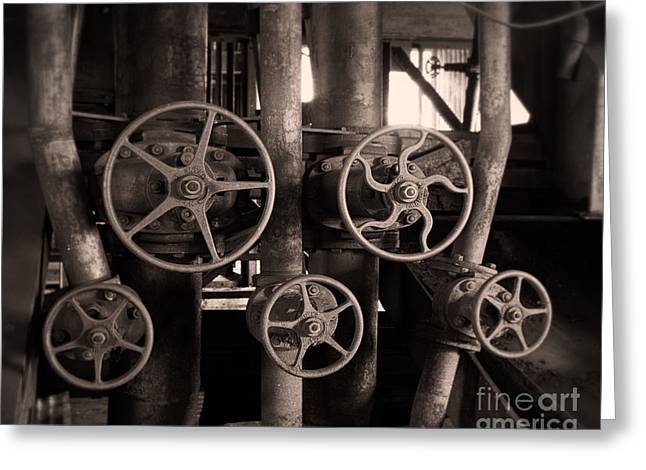 Colliery Greeting Cards - Well-tuned Set of Pipes Greeting Card by Royce Howland