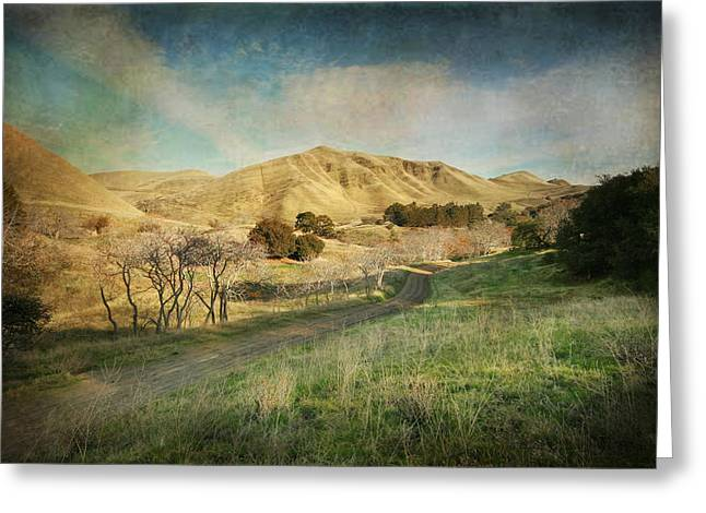 Diamond Digital Greeting Cards - Well Walk These Hills Together Greeting Card by Laurie Search