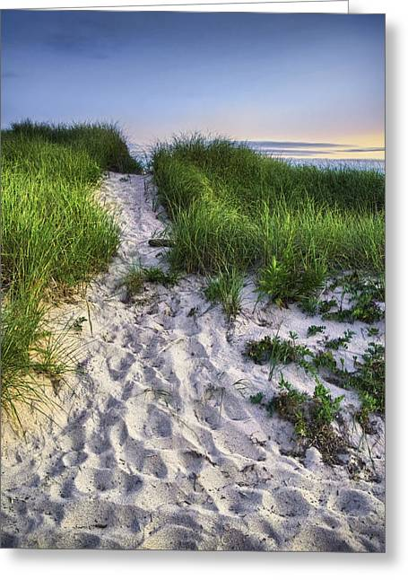 """cape Cod"" Greeting Cards - Wellfleet Beach Path Greeting Card by Tammy Wetzel"