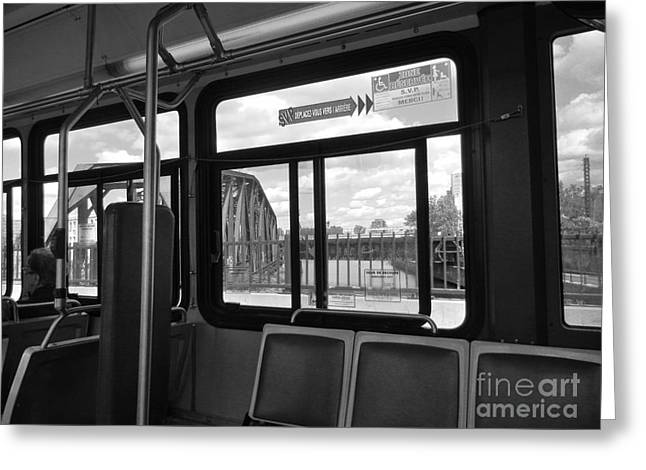 Bus Ride Greeting Cards - Wellington Overpass Greeting Card by Reb Frost