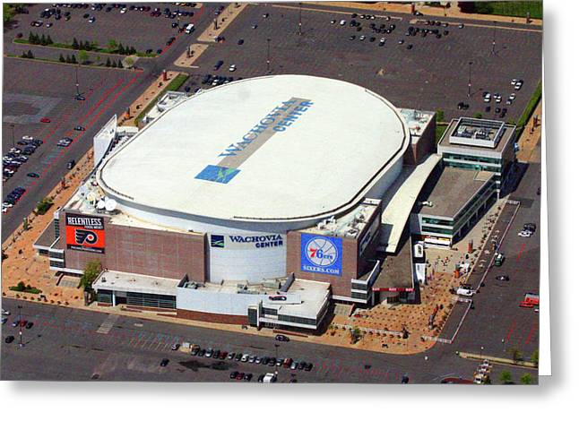 Sixers Greeting Cards - Wells Fargo Center 3601 South Broad St Philadelphia PA 19148 Greeting Card by Duncan Pearson