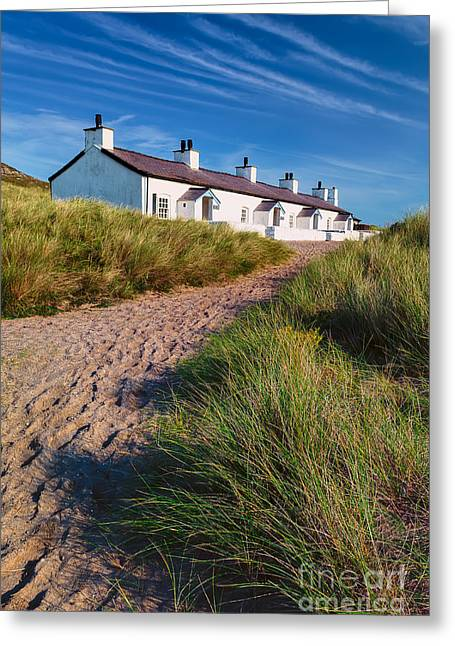 Welsh Cottages Greeting Card by Adrian Evans