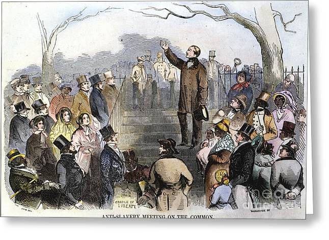Fugitive Slave Act Greeting Cards - Wendell Phillips Greeting Card by Granger