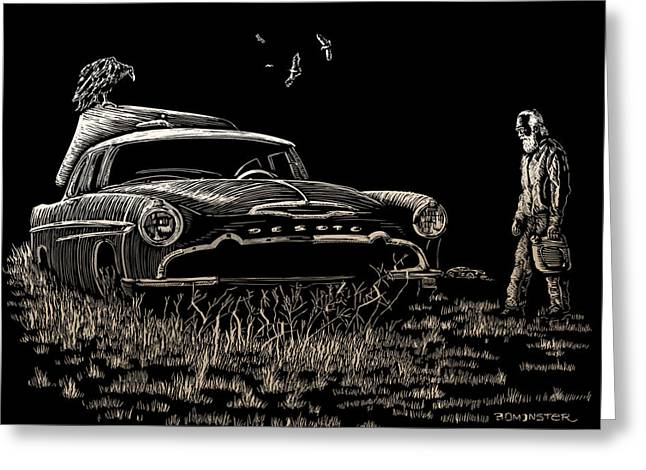 Kustom Greeting Cards - Went For Gas Greeting Card by Bomonster