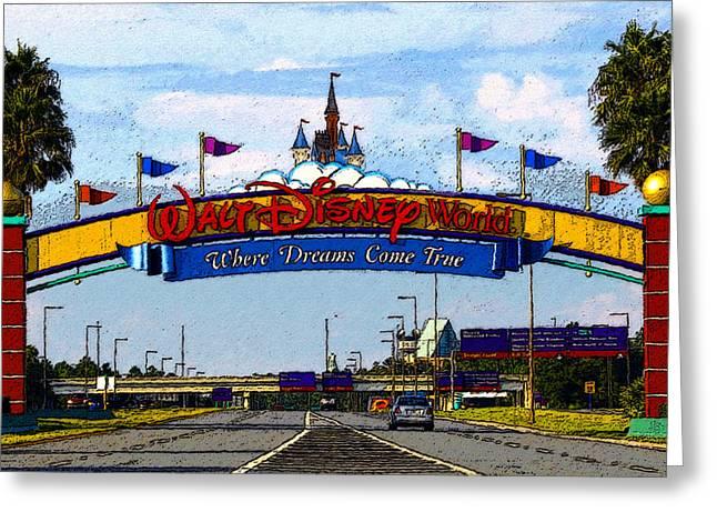 Walt Disney World Greeting Cards - Were Dreams Come True Greeting Card by David Lee Thompson