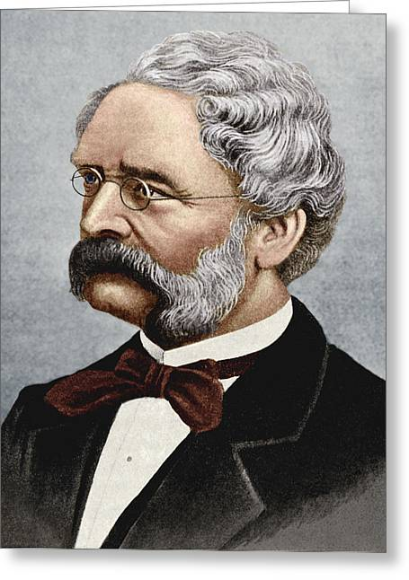Electrical Engineer Greeting Cards - Werner Siemens, German Engineer Greeting Card by Sheila Terry
