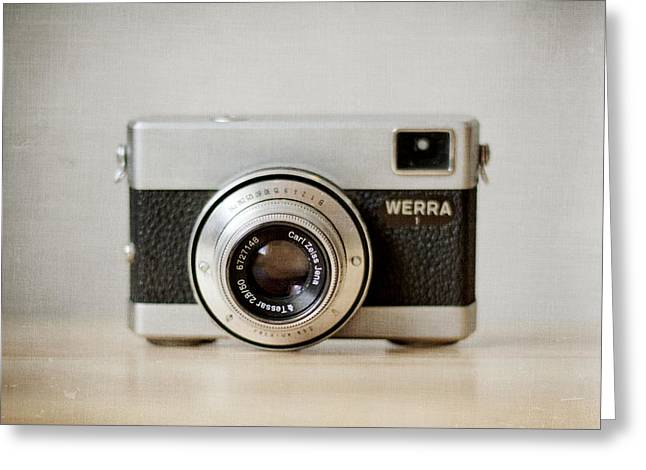 Vintage Camera Greeting Cards - Werra Greeting Card by Violet Gray