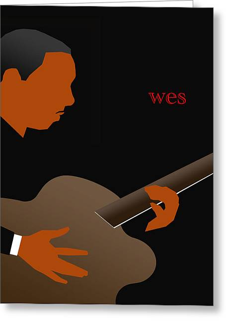 Improvisation Greeting Cards - Wes Montgomery Greeting Card by Victor Bailey