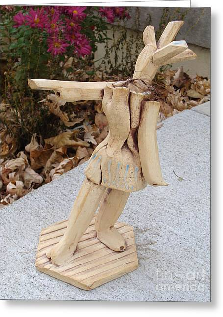 Dance Sculpture Greeting Cards - West Coast Dancer Greeting Card by Christine Belt