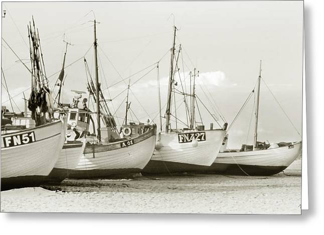 Fishing Trawler Greeting Cards - West Coast Fishing Boats Greeting Card by Robert Lacy