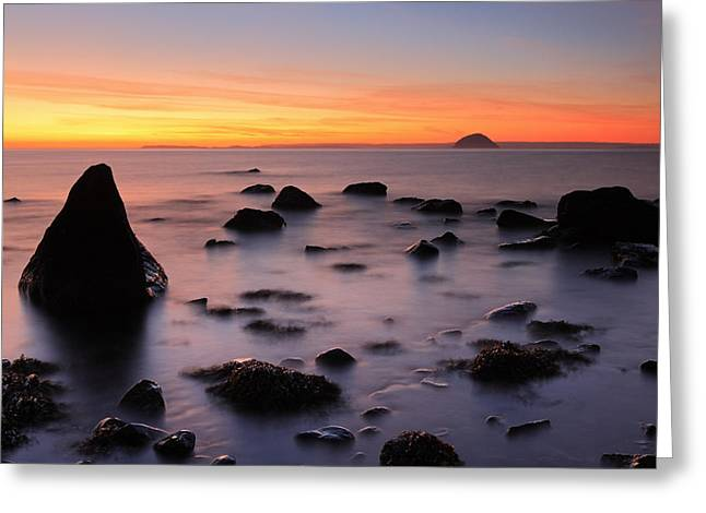 West Coast Sunset Greeting Card by Grant Glendinning