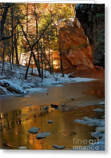 Oak Creek Greeting Cards - West Fork 07-044 Greeting Card by Scott McAllister