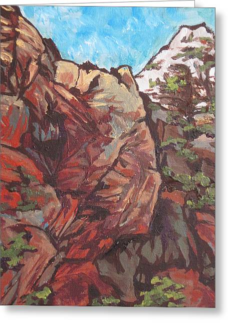 West Fork Paintings Greeting Cards - West Fork Greeting Card by Sandy Tracey