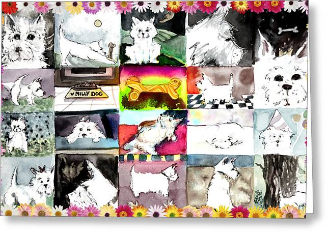 Wag Greeting Cards - West Highland Terrier Greeting Card by Mindy Newman