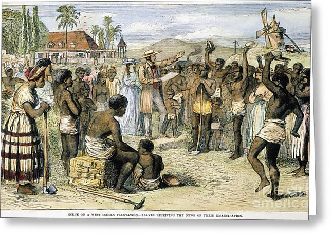 Abolition Greeting Cards - West Indies: Slavery, 1833 Greeting Card by Granger