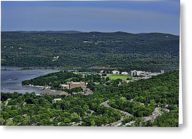 Cadet Greeting Cards - West Point from Storm King Overlook Greeting Card by Dan McManus