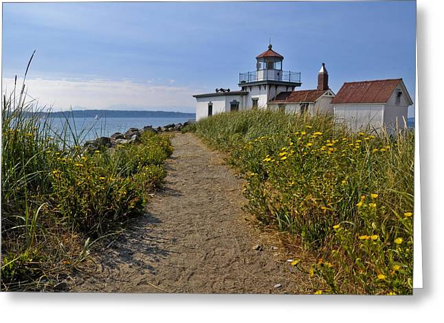 West Point Greeting Cards - West Point Lighthouse Greeting Card by Michael Gass