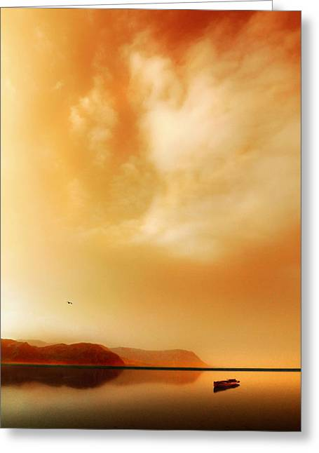 Llandudno Greeting Cards - West Shore Whimsy Greeting Card by Mal Bray