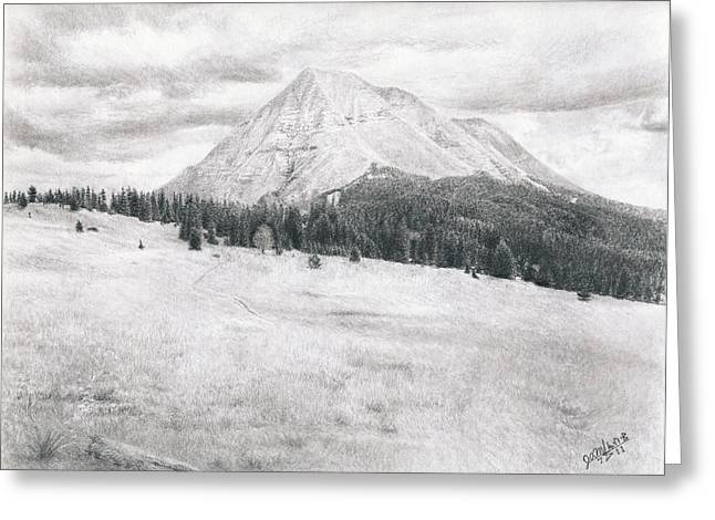 Mt Drawings Greeting Cards - West Spanish Peak Greeting Card by Joshua Martin