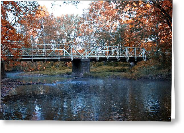 Philadelphia Cricket Greeting Cards - West Valley Green Road Bridge along the Wissahickon Creek Greeting Card by Bill Cannon