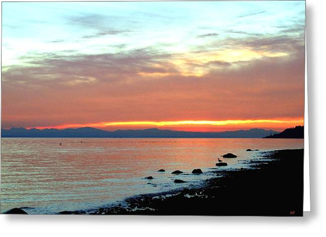 West Vancouver Greeting Cards - West Vancouver Sunset Greeting Card by Will Borden