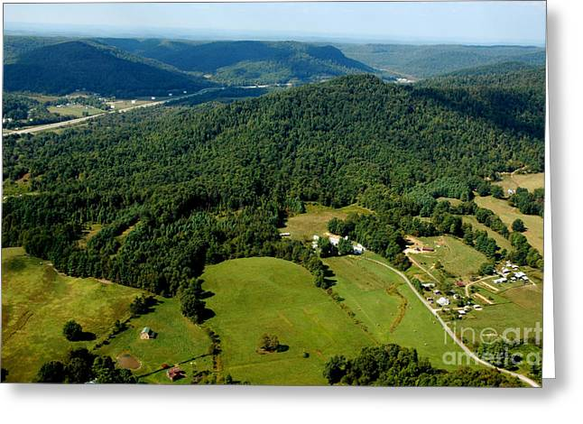 Speed Trap Greeting Cards - West Virginia Aerial View Greeting Card by Thomas R Fletcher