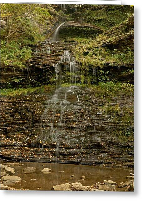 Cane Creek Greeting Cards - West Virginia Waterfall Greeting Card by Michael Peychich