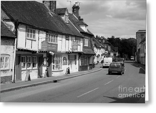 Old Town Digital Art Greeting Cards - West Wycombe Greeting Card by Donald Davis