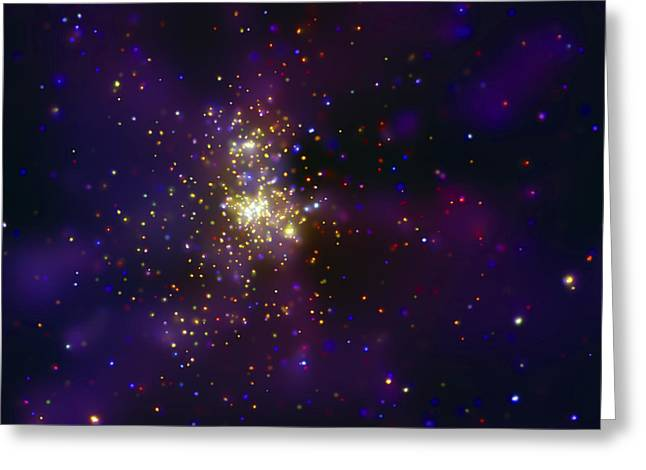 Binary Greeting Cards - Westerlund 2, A Young Star Cluster Greeting Card by Stocktrek Images