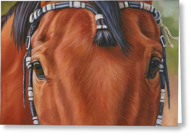 Western Braids Greeting Card by Kathleen  Hill