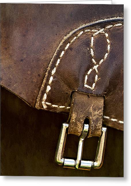 Apparel Greeting Cards - Western Chaps Detail Greeting Card by Susan Candelario