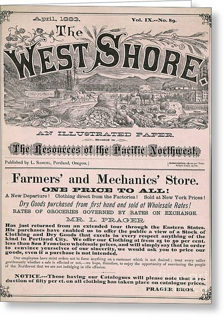 Front Page Greeting Cards - Western Magazine, 1883 Greeting Card by Granger