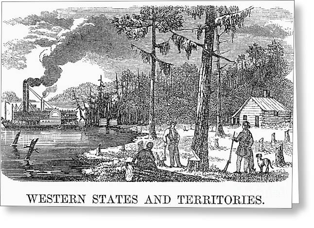 Destiny Greeting Cards - WESTERN SETTLEMENT, c1830s Greeting Card by Granger