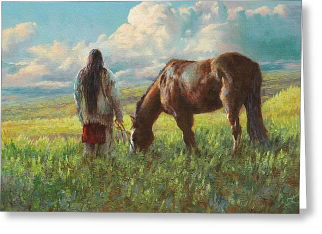 Lakota Greeting Cards - Western Skies Greeting Card by Jim Clements