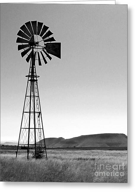Generators Greeting Cards - Western Windmill in Southern Africa Greeting Card by Alexandra Jordankova