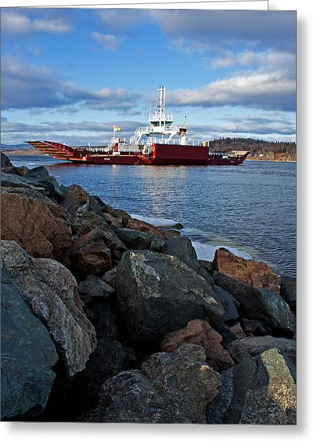 Westfield River Greeting Cards - Westfield Ferry Greeting Card by Jeff Galbraith