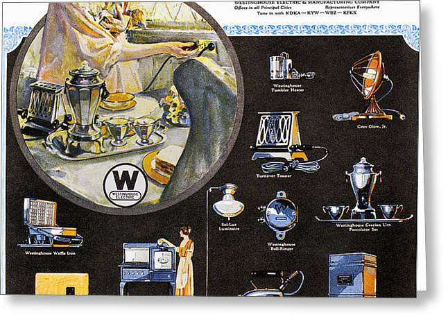 WESTINGHOUSE AD, 1925 Greeting Card by Granger