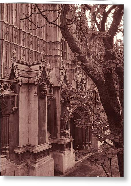 Architecture Framed Prints Greeting Cards - Westminster Abbey Greeting Card by Kathy Yates