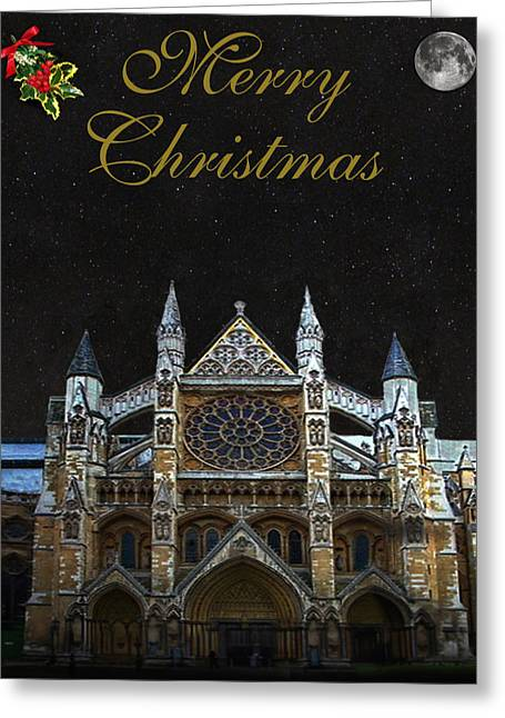 Westminster Abbey Merry Christmas Greeting Card by Eric Kempson