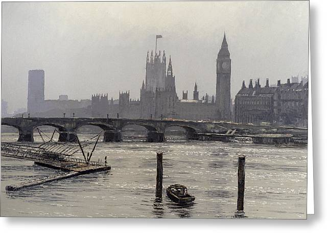 Urbam Greeting Cards - Westminster Greeting Card by Tom Young