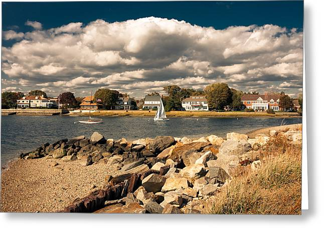 Recently Sold -  - Sailboat Images Greeting Cards - Westport Greeting Card by Nancy Kennedy