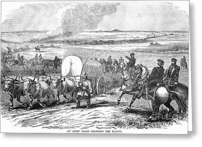 Destiny Greeting Cards - Westward Expansion, 1858 Greeting Card by Granger
