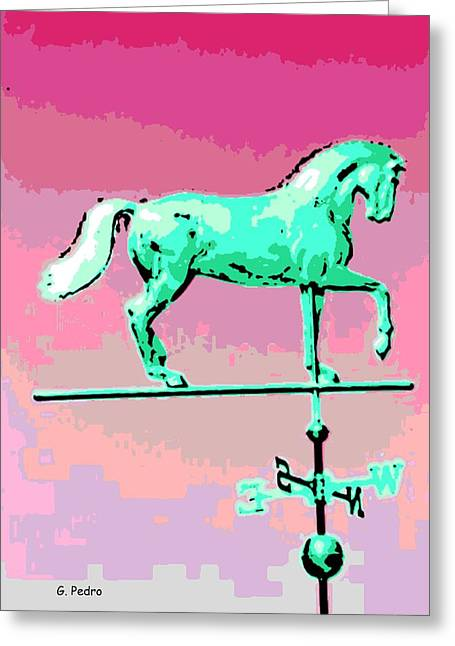 Weathervane Digital Art Greeting Cards - Westward Ho Greeting Card by George Pedro