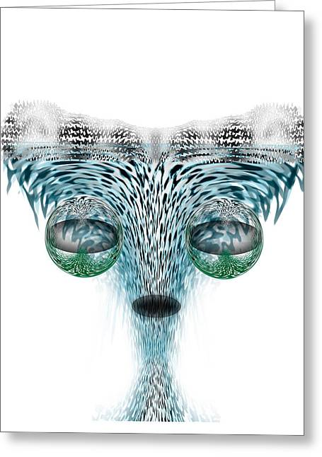 Future Office Space Greeting Cards - Wet Alien Greeting Card by Christohper Gaston