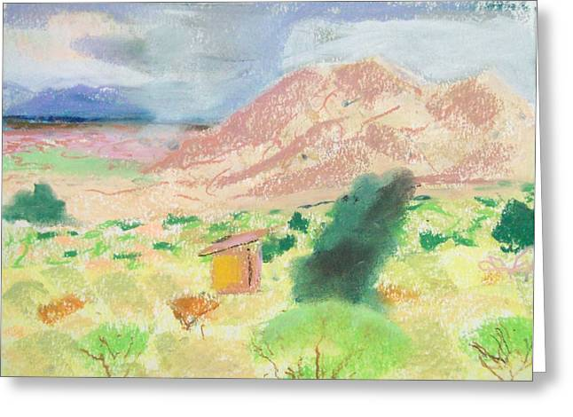Sand Dunes Pastels Greeting Cards - Wet Dunes Greeting Card by Heath Draney