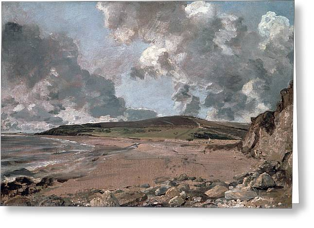 Jordan Hill Greeting Cards - Weymouth Bay with Jordan Hill Greeting Card by John Constable