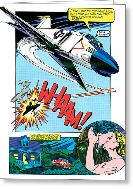 Aeroplane Greeting Cards - WHAAM and Kiss Greeting Card by John Reilly