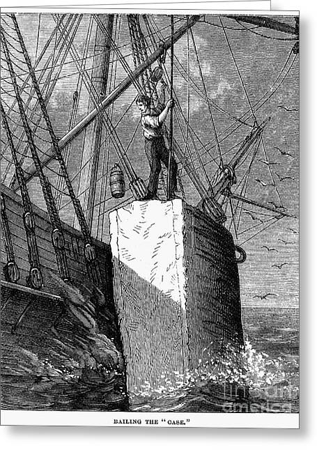 1874 Greeting Cards - Whaling, 1874 Greeting Card by Granger